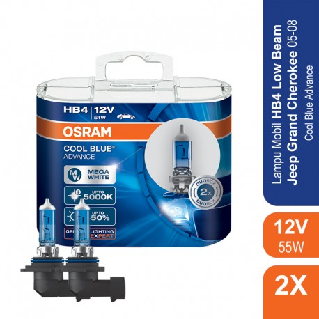 Jual Osram Lampu Mobil HB4 Cool Blue Advance 12V 51W - 69006CBA - Biru - dg Harga Murah