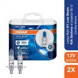Jual Osram Lampu Mobil H1 Cool Blue Advance 12V 55W - 62150CBA - Biru - dengan Harga Murah