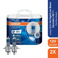 Jual Osram Lampu Mobil H4 Cool Blue Advance 12V 60/55W - 62193CBA - Biru - dengan Harga Murah