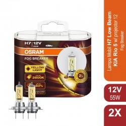 Jual Osram Lampu Mobil KIA Rio 5 w Projector 2012 Low Beam H7 Fog Breaker - 62210FBR - Kuning - dg Harga Murah