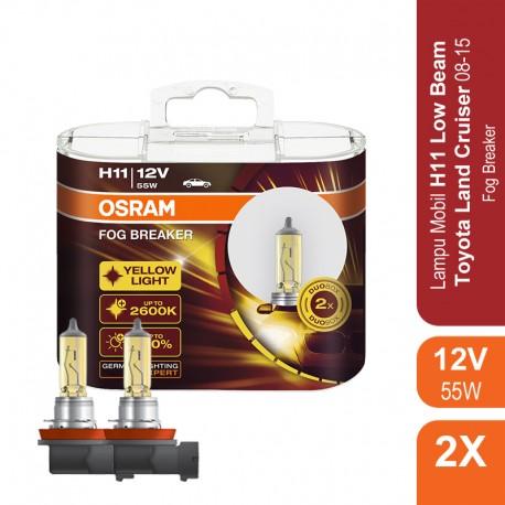 Jual Osram Lampu Kabut Mobil H11 Fog Breaker 12V 55W - 62211FBR - Kuning - dg Harga Murah