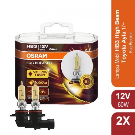 Jual Osram Lampu Kabut Mobil HB3 Fog Breaker 12V 60W - 9005FBR - Kuning - dg Harga Murah