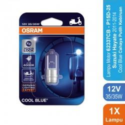 Osram Lampu Depan Motor Suzuki Hayate 2011-2014- 62337CB 35/35 12V P15D-25-1 Cool Blue