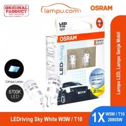 Jual Osram Lampu Senja Mobil - LEDriving T10 W5W 6700K Sky White 2880SW - Putih Kebiruan - dg Harga Murah