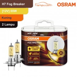 Jual Osram Lampu Kabut Mobil H7 Fog Breaker 12V 55W - 62210FBR - Kuning - dg Harga Murah