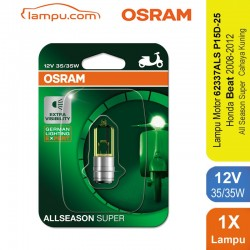 Jual Osram Lampu Depan Motor Honda Beat 2008-2012 - 62337ALS - All Season Super - Mampu Menembus Hujan, Kabut & Gerimis