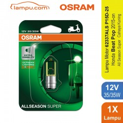 Jual Osram Lampu Depan Motor Honda Beat Pop 2015-On - 62337ALS - All Season Super - Mampu Menembus Hujan, Kabut & Gerimis